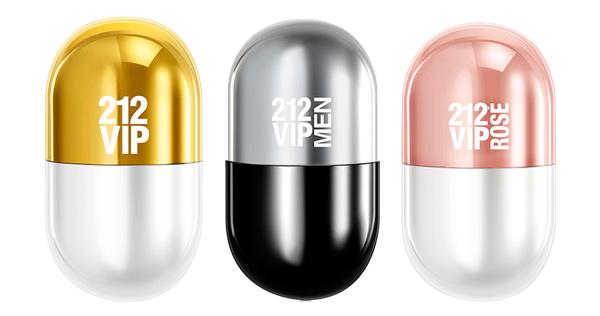 Carolina Herrera 212 Pills VIP | 212 VIP + 212 VIP Men + 212 VIP Rosé