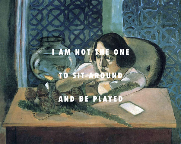 FLY ART - Why don't you say the things you said to me yesterday (Woman before a fish bowl (1922), Henri Matisse + Say My Name, Destiny's Child)