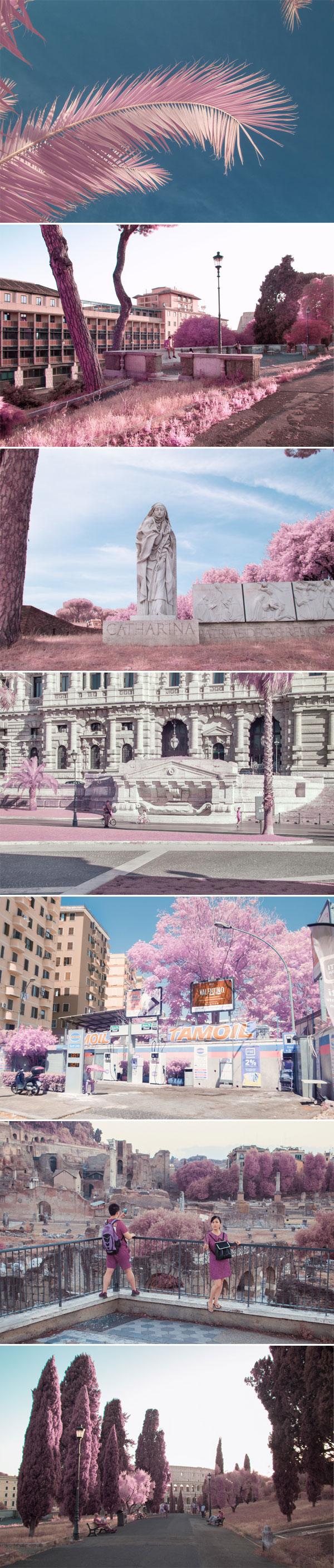 Rome in infrared | Milán Rácmolnár