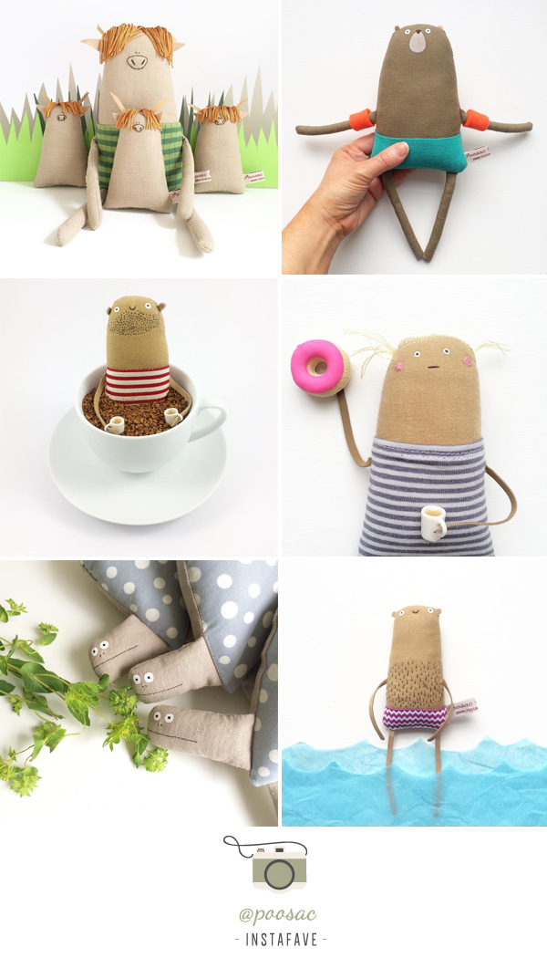 Instafave: @poosac | Kim Smith Ridiculous creatures, quirky dolls & illustrations lovingly handmade in the UK.
