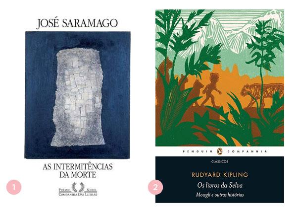 Mini-resenhas dos livros: As Intermitências da Morte e Os Livros da Selva | Não Me Mande Flores