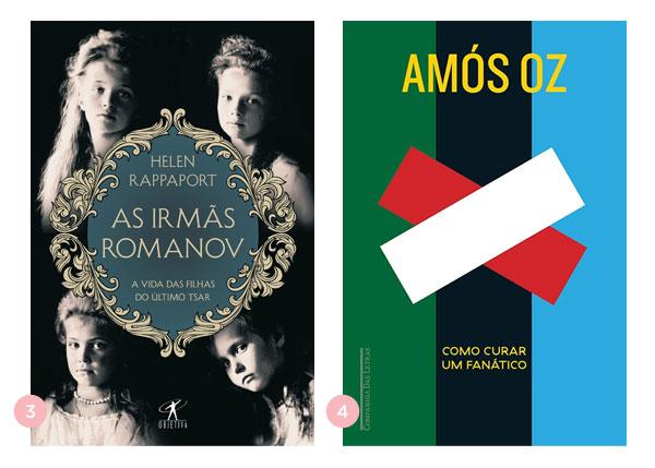 Mini-resenhas dos livros: As Irmãs Romanov e Como Curar um Fanático | Não Me Mande Flores