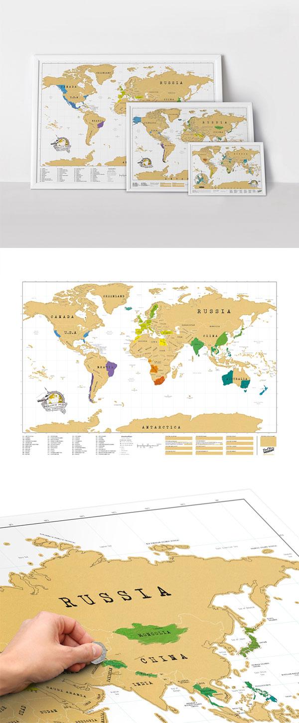 Luckies Scratch Map XL | Mapa Mundi para marcar suas viagens