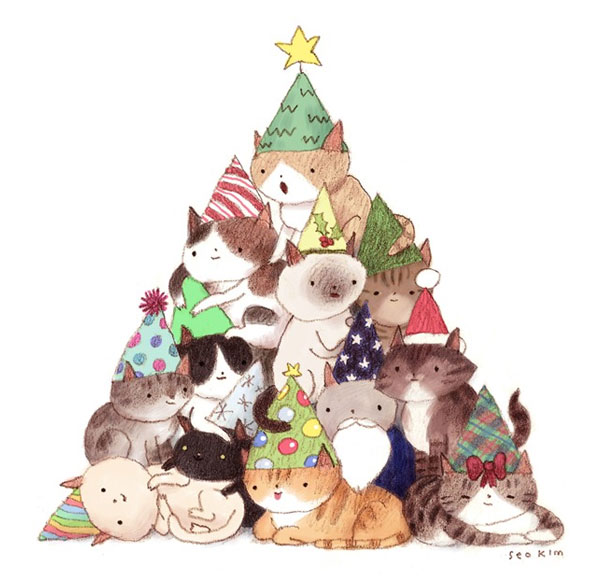 Seo Kim | Cat Christmas