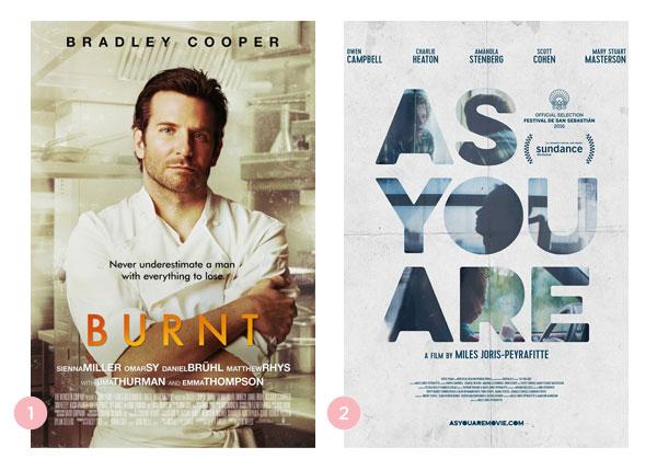 Mini-Resenha dos filmes Pegando Fogo (Burnt) e Como Você É (As You Are) | Não Me Mande Flores