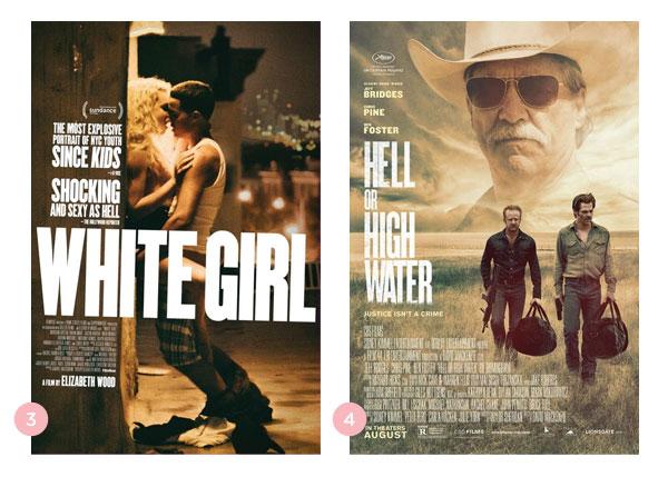 Mini-resenhas: Branquinha (White Girl) + A Qualquer Custo (Hell or High Water) | Não Me Mande Flores
