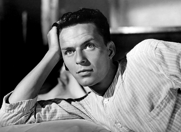 Frank Sinatra | A young Frank Sinatra on the set of It Happened in Brooklyn in 1947.