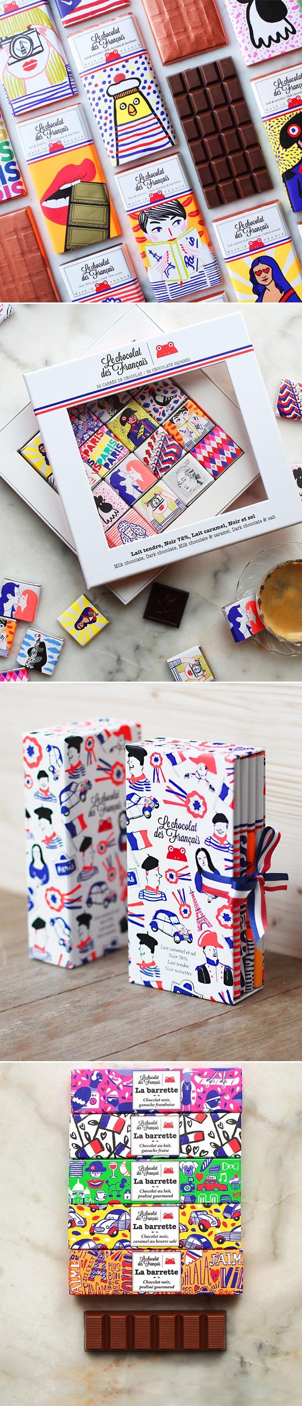 Le chocolat des Français | Pretty Packaging | Não Me Mande Flores