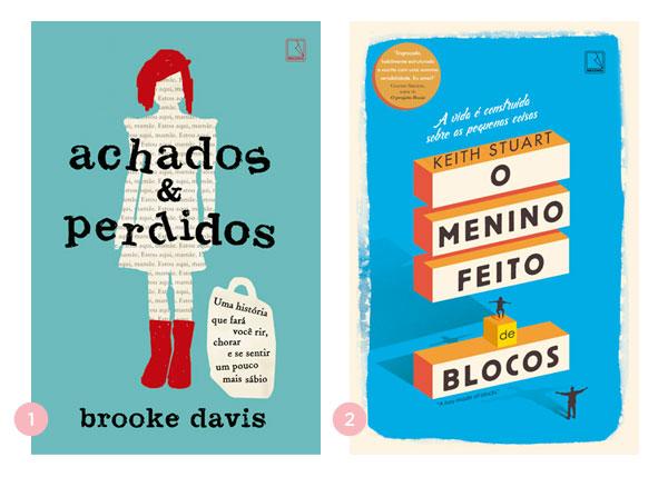 Mini-resenhas dos livros: Achados e Perdidos + O Menino Feito de Blocos | Não Me Mande Flores