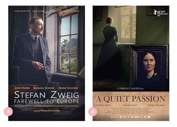 Mini-resenhas dos filmes: Stefan Zweig - Adeus Europa e Além das Palavras | Não Me Mande Flores