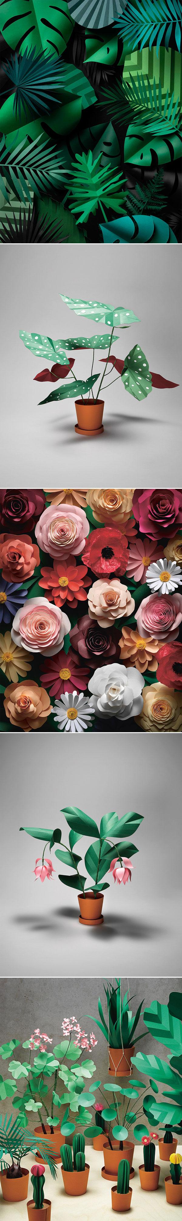 Fideli Sundqvist - Paper Garden | Arte com Papel