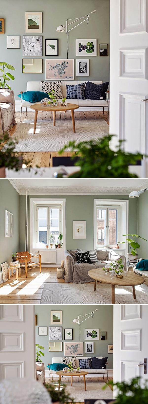 Apartamento-Inspiração em Göteborg, Suécia | Sala de Estar