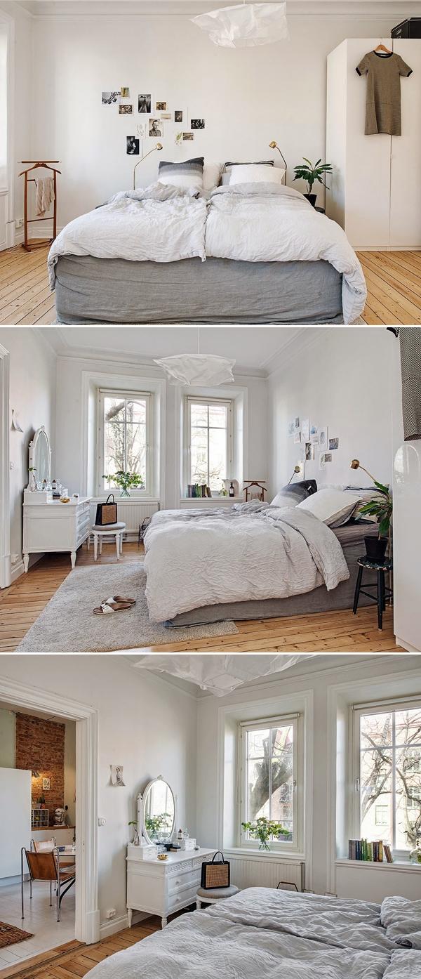 Apartamento-Inspiração em Göteborg, Suécia | Quarto