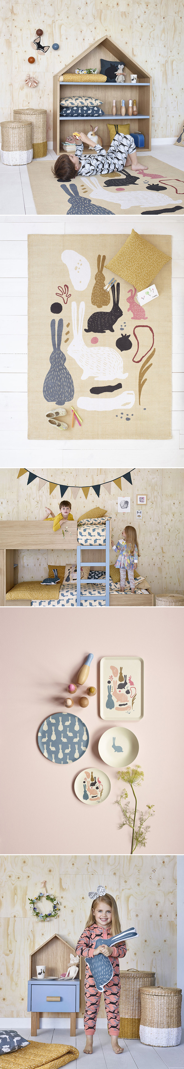 Milk & Habitat Collaboration | Kid's Bedroom + bunnies