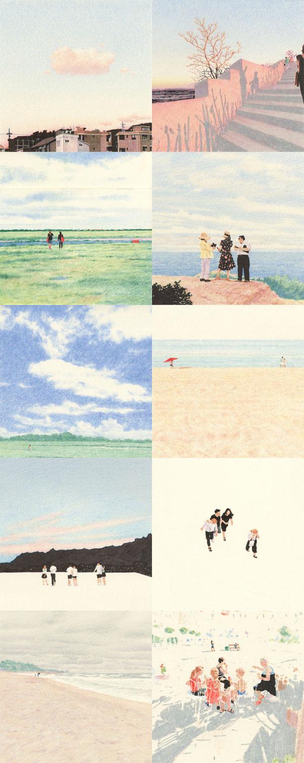 Lee Kyutae // Kokooma // Ilustração com lápis de cor