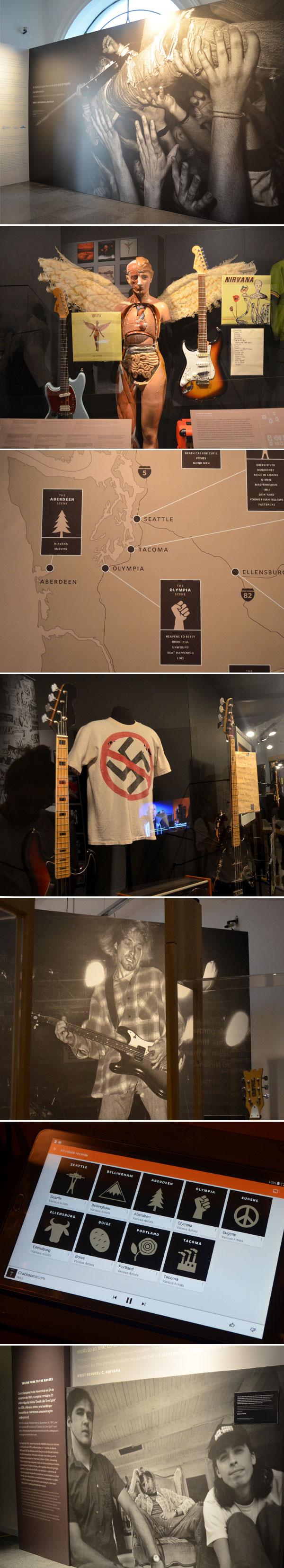 Nirvana: Taking Punk to the Masses | Samsung Rock Exhibition - fotos da exposição no Museu Histórico Nacional, no Rio de Janeiro