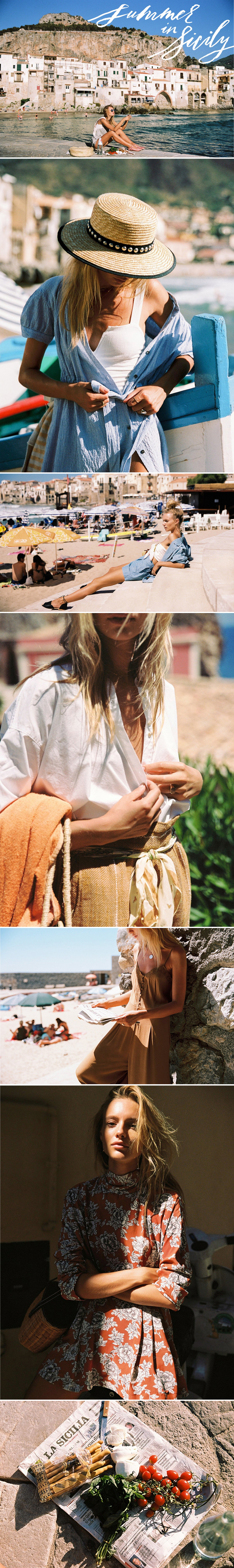 Verão na Sicília | Summer in Sicily - Free People editorial