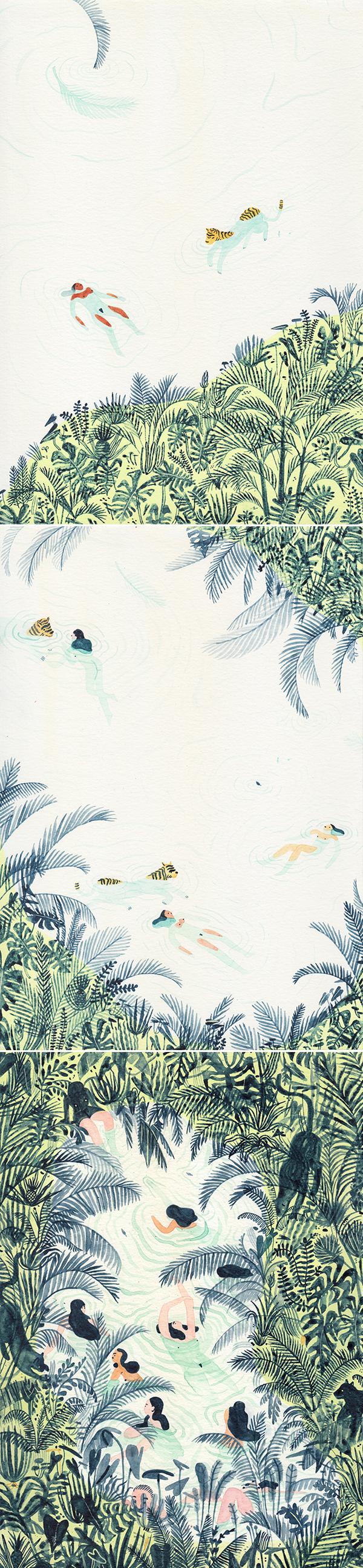 Just Swim | ilustração da Monica Ramos