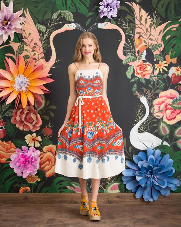 Antix Bossa Flora | Vestido Rosas Reais