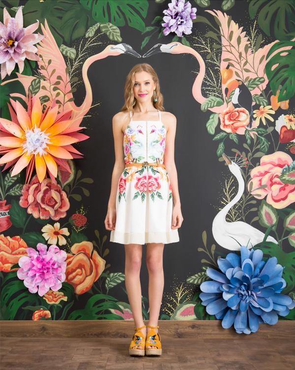 Antix Bossa Flora | Vestido Tropicália