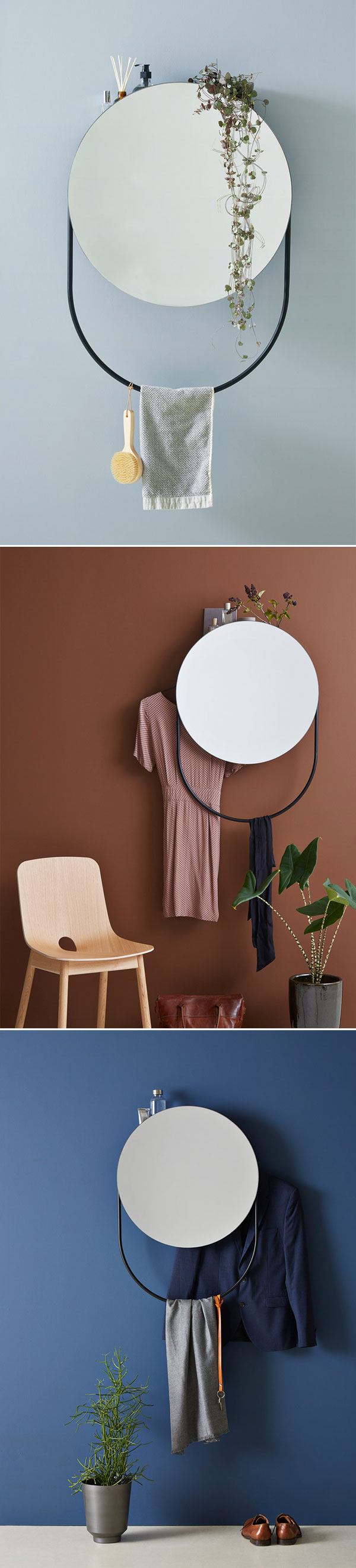 Verde Mirror by Rikke Frost | via Woud