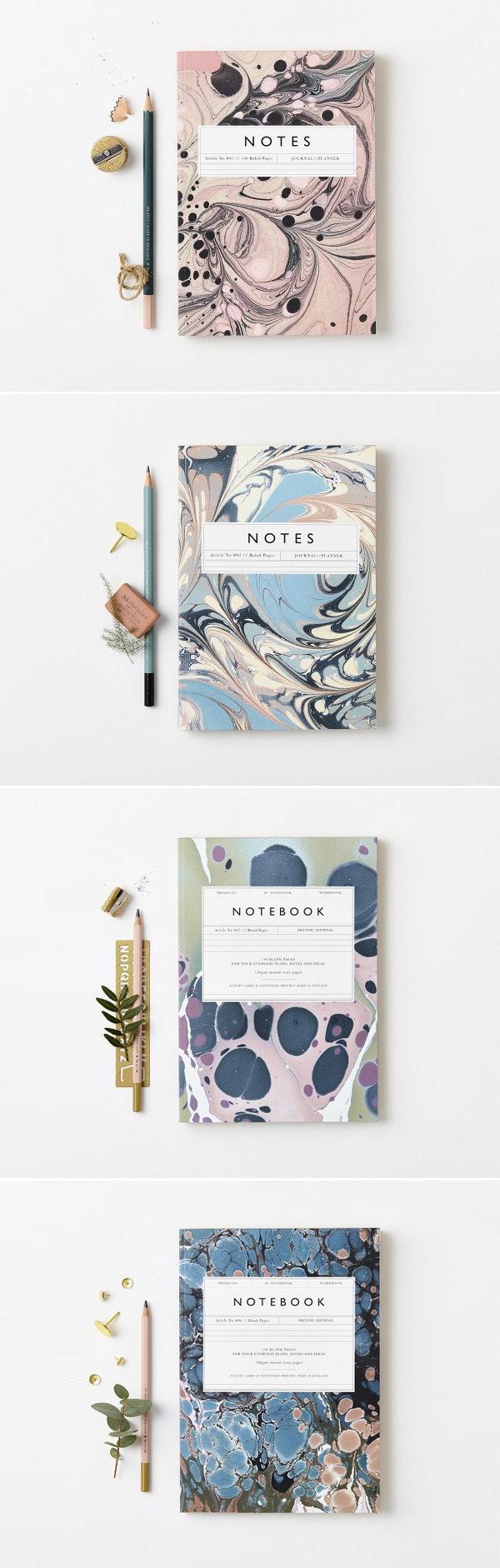 Marbled Notebooks | Katie Leamon