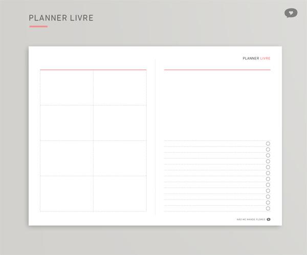 Planner Livre 2018 | Não Me Mande Flores - FREEBIE!