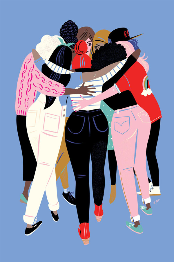 Reflections on the March by Libby VanderPloeg | feminst illustration