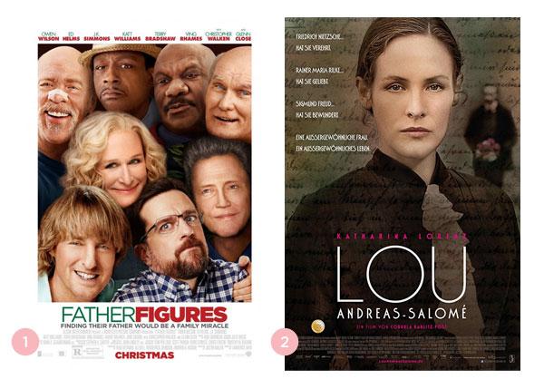 Mini-resenhas dos filmes: Correndo Atrás de um Pai (Father Figures) e Lou (Lou Andreas-Salomé) | Não Me Mande Flores
