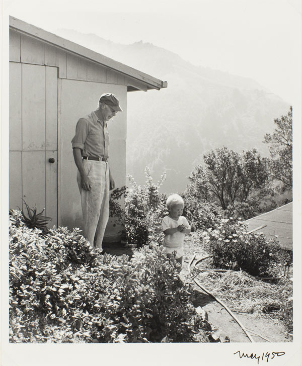 Henry Miller and Son Tony, Big Sur, California by Mary Randlett