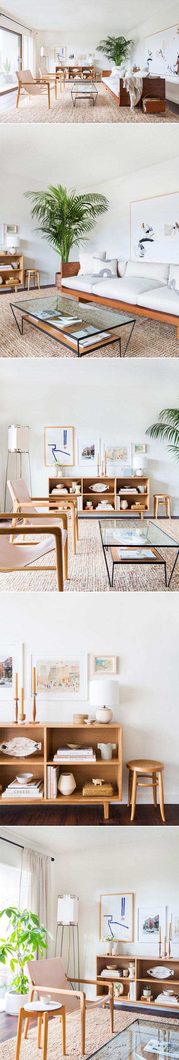 Uma sala minimal e aconchegante | Melanie from Emily Henderson Design