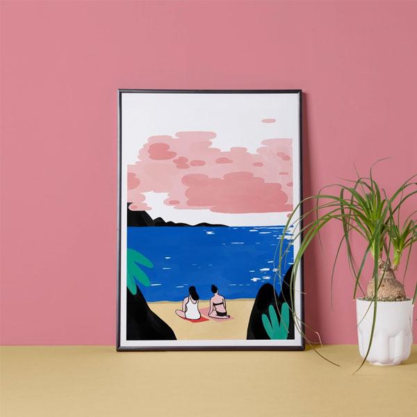 La plage. by Lorraine Sorlet   ilustração