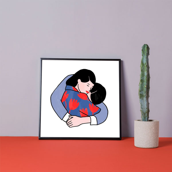 In your arms, by Lorraine Sorlet   ilustração