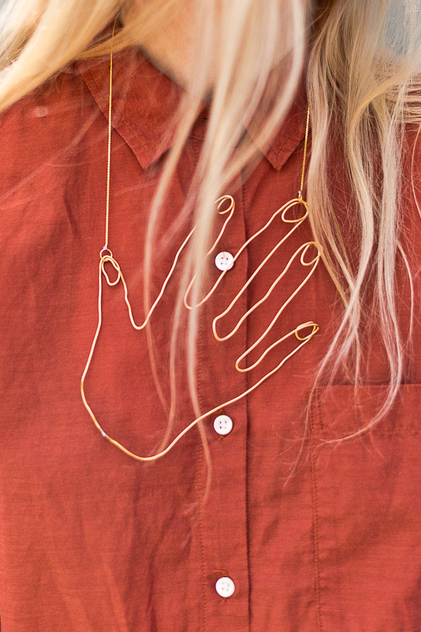 DIY Hand Wire Necklace | Paper and Stitch