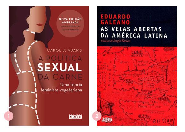 Mini-resenhas dos livros: A Política Sexual da Carne e As Veias Abertas da América Latina | Não Me Mande Flores