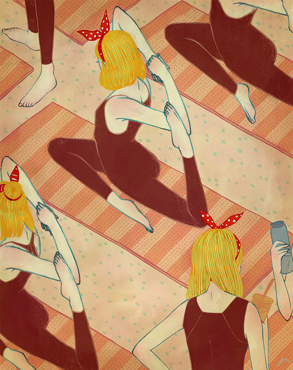 Jongmee Illustration | Yoga Girls