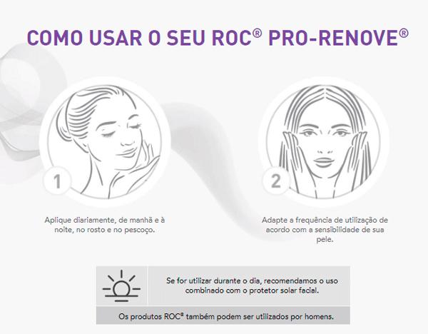Roc Pro Renove Creme Antiidade | Como usar