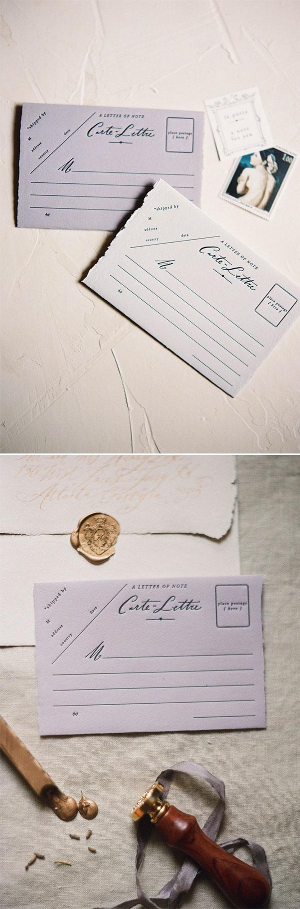 Cartões Postais Artesanais / Feitos à mão da loja Saint Signora.