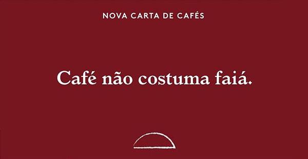 A nova carta de cafés da Tapí Tapioca