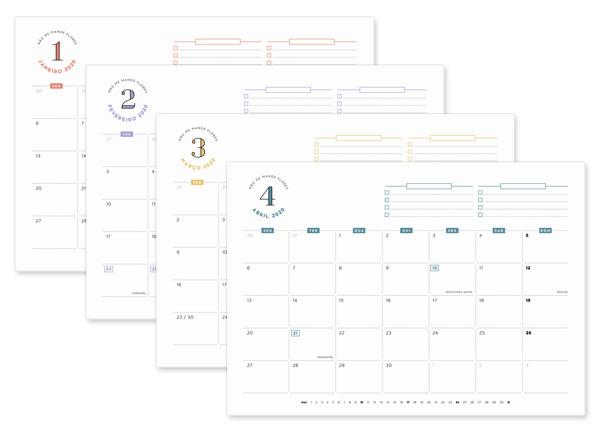 Planner Mensal 2020 - Não Me Mande Flores | download gratuito / freebie