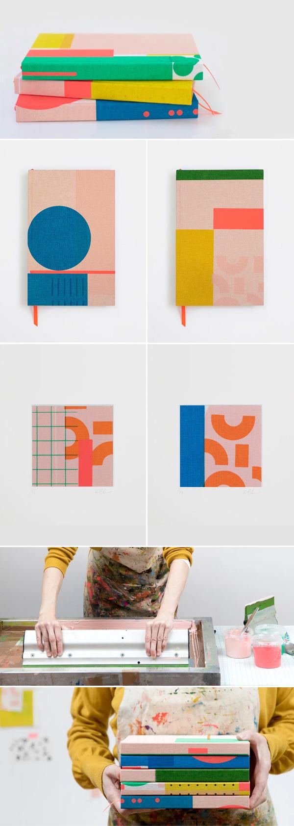 Kate Clarke Studio | Encadernação / cadernos feitos à mão, encadernados com tecido