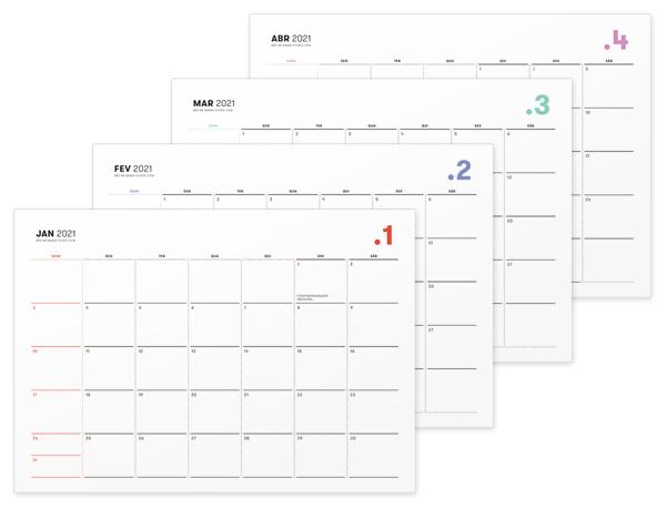 Planner 2021 Mensal • Não Me Mande Flores - download GRATUITO - freebie