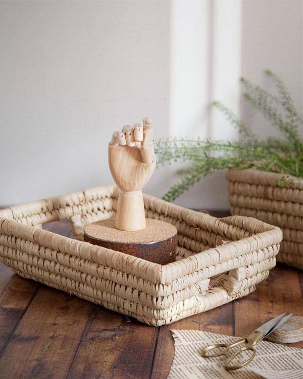 Artisan Homeware by Our Lovely Goods | Rectangular Raffia Basket