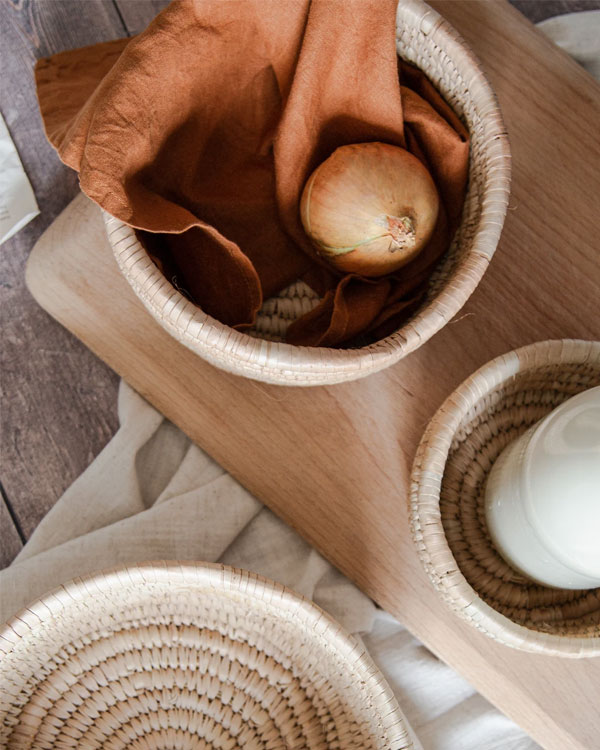Artisan Homeware by Our Lovely Goods | Round Raffia Baskets