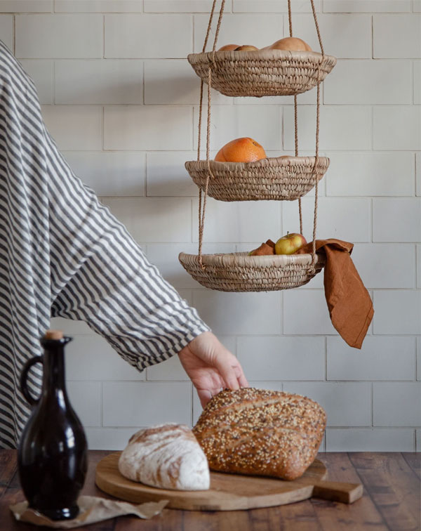 Artisan Homeware by Our Lovely Goods | Hanging Raffia Bowls