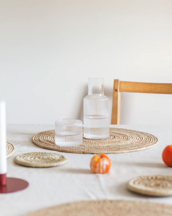 Artisan Homeware by Our Lovely Goods | Handwoven Raffia Place Mats