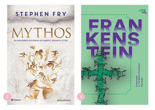 Mini-resenhas dos livros: Mythos (Stephen Fry) e Frankenstein (Mary Shelley) | Não Me Mande Flores